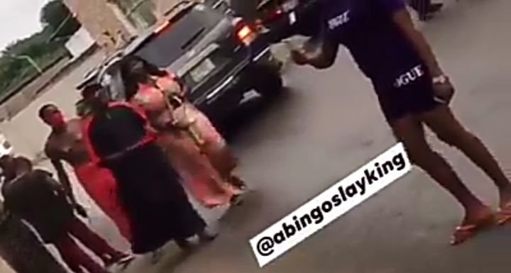 Native Doctor Spotted Taking His Girlfriend Shopping In Edo State (Video)